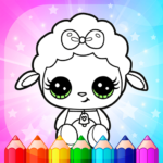 Flower Magic Color-kids coloring book with animals 3.9 (MOD, Unlimited Money)