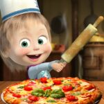Masha and the Bear Pizzeria Game! Pizza Maker Game 1.1.9 (MOD, Unlimited Money)