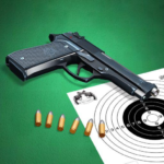 Pistol shooting at the target.  Weapon simulator 5.2 (MOD, Unlimited Money)