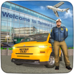 Real Taxi Airport City Driving-New car games 2020 1.10 (MOD, Unlimited Cabs)