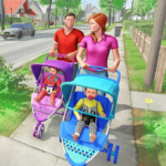 Virtual Mother New Baby Twins Family Simulator 2.2.2 (MOD)