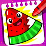 Fruits Coloring book & Food Drawing book Kids Free 1.4 (MOD, Unlimited Money)