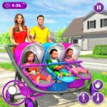 New Mother Baby Triplets Family Simulator v1.2.5  (MOD, Unlimited Money)