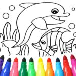 Dolphin and fish coloring book  (MOD, Unlimited Money)16.3.2