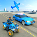USA Police Car Transporter Games: Airplane Games  (MOD, Unlimited Money)1.2