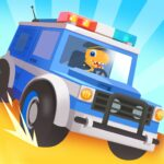 Dinosaur Police Car – Police Chase Games for Kids  (MOD, Unlimited Money)1.1.4