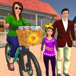 Working Mom Newspaper Girl Family Games 1.23 (MOD, Unlimited Money)