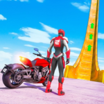 New Crazy Rope Spider Girl Bike Stunts Master 2021 2.0.3 (MOD, Unlimited Coins)