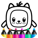 Pets Drawing for Kids and Toddlers games Preschool 1.2.2.7 (MOD, Unlimited Cats)